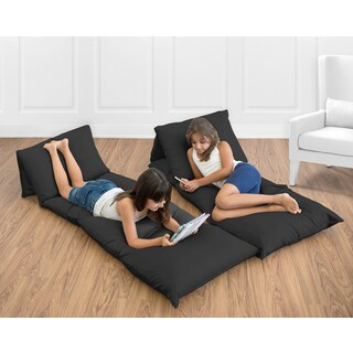 Sweet Jojo Designs Black Floor Pillow Lounger Cover (Pillows Not Included)