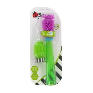 Sassy Purple and Green No-Scratch Bottle Brush