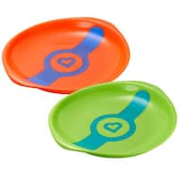 Munchkin Orange/Green White Hot Feeding Plates (Set of 2)
