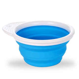 Munchkin Go Bowl Blue Silicone Feeding Bowl