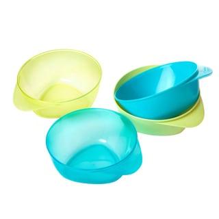 Tommee Tippee Boy Colors Explora Easy Scoop Feeding Bowls (Pack of 4)