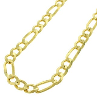 Authentic 14k Yellow Gold 7mm Solid Figaro Link Necklace Chain 20 30 Men Women In Style Designz