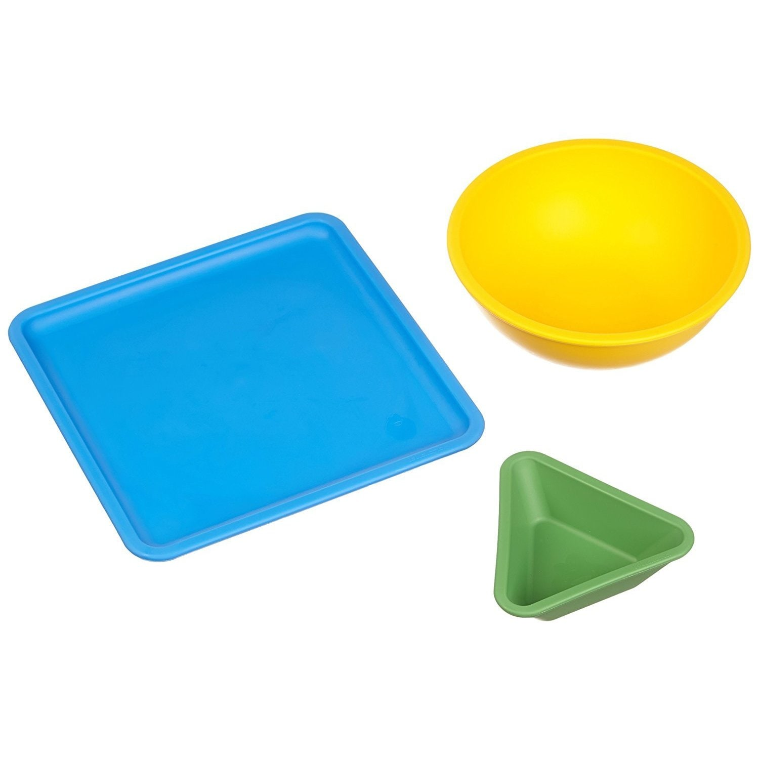 Lollacup Summer 3-piece Mealtime Set (Green, Yellow, Blue...