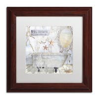 Color Bakery 'Beach House I' Matted Framed Art - Off-White