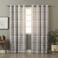 Aurora Home Geometric Tribal Print Curtain Panel Pair