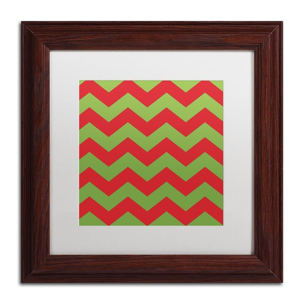 Color Bakery 'Xmas chevron 9' Matted Framed Art
