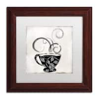 Color Bakery 'Silver Brewed 1' Matted Framed Art - Silver