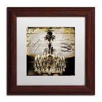 Color Bakery 'Chand 1' Matted Framed Art - Yellow