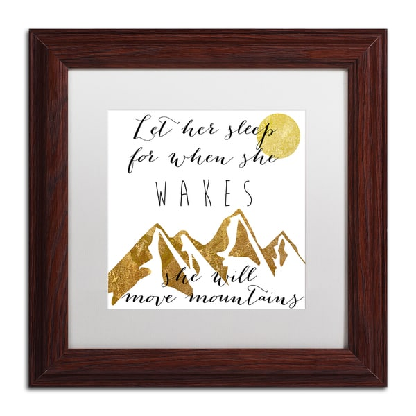 Color Bakery 'Mountains' Matted Framed Art - White