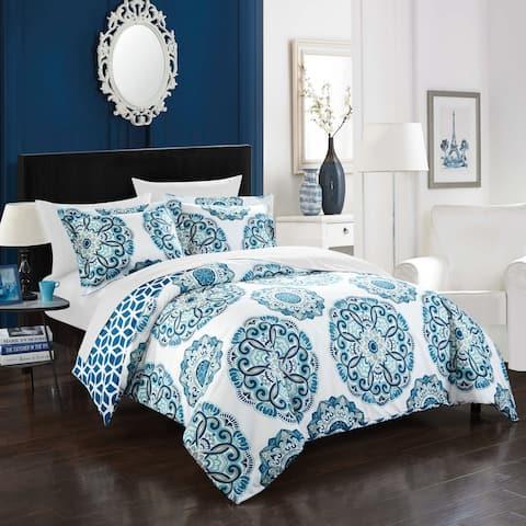 Porch & Den Prowers 3-piece Blue Reversible Duvet Cover Set