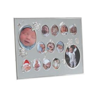 Heim Concept Baby Collage Photo Frame, Silver Aluminium