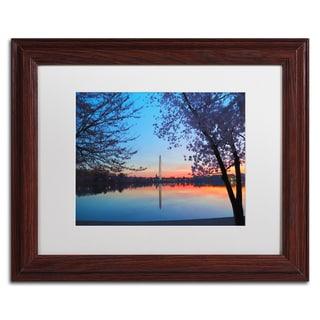CATeyes 'Tidal Basin Dawn' Matted Framed Art