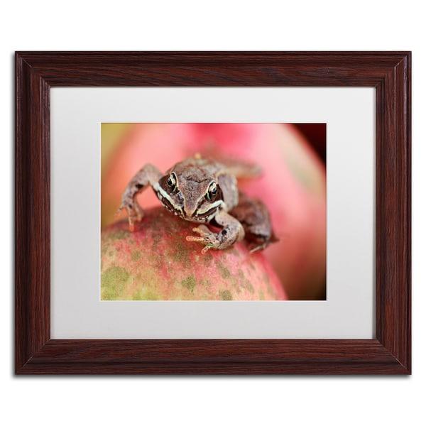 Jason Shaffer 'Wood Frog' Matted Framed Art