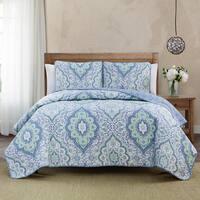 Diane 3-piece Quilt Set - Blue/White