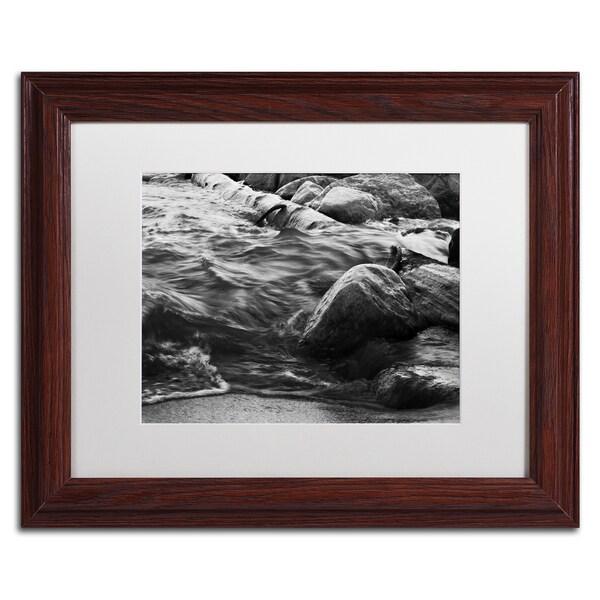 Jason Shaffer 'Lake Erie Waves' Matted Framed Art