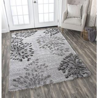 Adana Gray Floral Area Rug (5'3 x 7'3)
