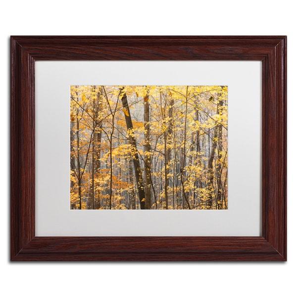 Jason Shaffer 'Autumn Treeline' Matted Framed Art
