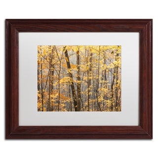 Jason Shaffer 'Autumn Treeline' Matted Framed Art