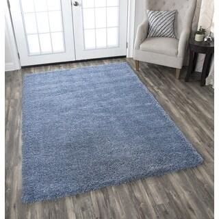 Adana Blue Solid Area Rug (5'3 x 7'3)