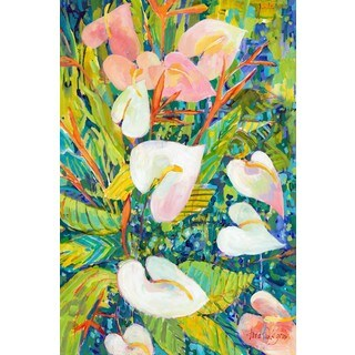 Tropical Foliage' Painting Print on Wrapped Canvas