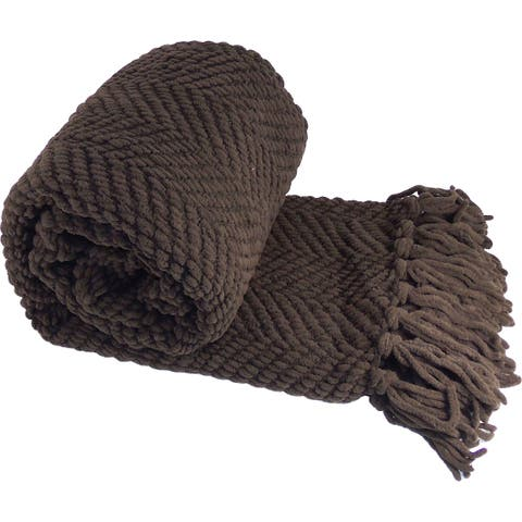 Best Sellers - BOON Knitted Tweed Throw Blanket - 36 Color Options