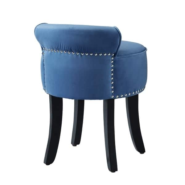 Strange Shop West Velvet Contemporary Nailhead Trim Rolled Back Bralicious Painted Fabric Chair Ideas Braliciousco