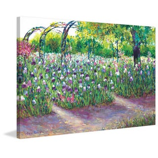 Iris in Bloom' Painting Print on Wrapped Canvas