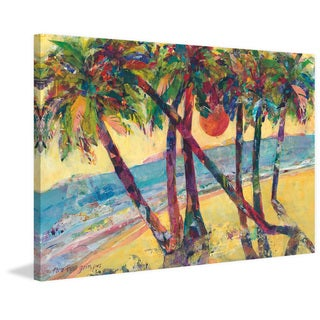 Life in Tropics' Painting Print on Wrapped Canvas - Blue
