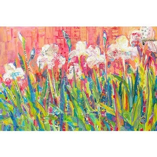 The Pink House' Painting Print on Wrapped Canvas