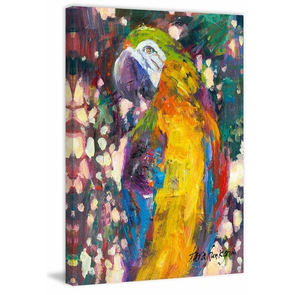 Polly' Painting Print on Wrapped Canvas - Yellow