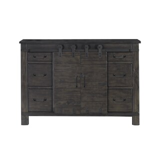 Abington Media Chest in Weathered Charcoal