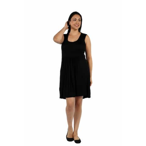 24/7 Comfort Apparel Hourglass Shift Plus Size Dress