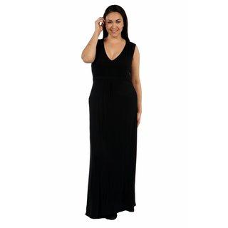 24/7 Comfort Apparel Island Fire Plus Size Maxi Dress