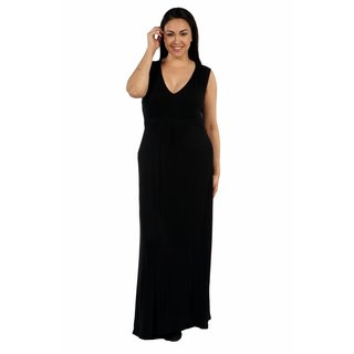 24/7 Comfort Apparel Island Fire Plus Size Maxi Dress
