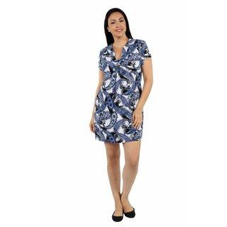 24/7 Comfort Apparel Blue Sky Plus Size Minidress