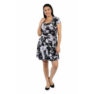 24/7 Comfort Apparel Shadow Flower Plus Size Dress