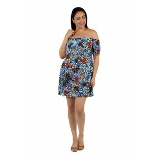 24/7 Comfort Apparel Summertime Sophistication Plus Size Mini Dress