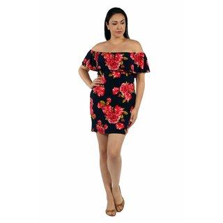 24/7 Comfort Apparel Rose Meadow Plus Size Dress