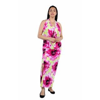 24/7 Comfort Apparel Enchanted Sands Cowl Neck Plus Size Dress