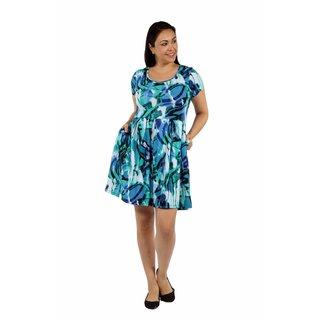 24/7 Comfort Apparel Summer Reef Plus Size Dress