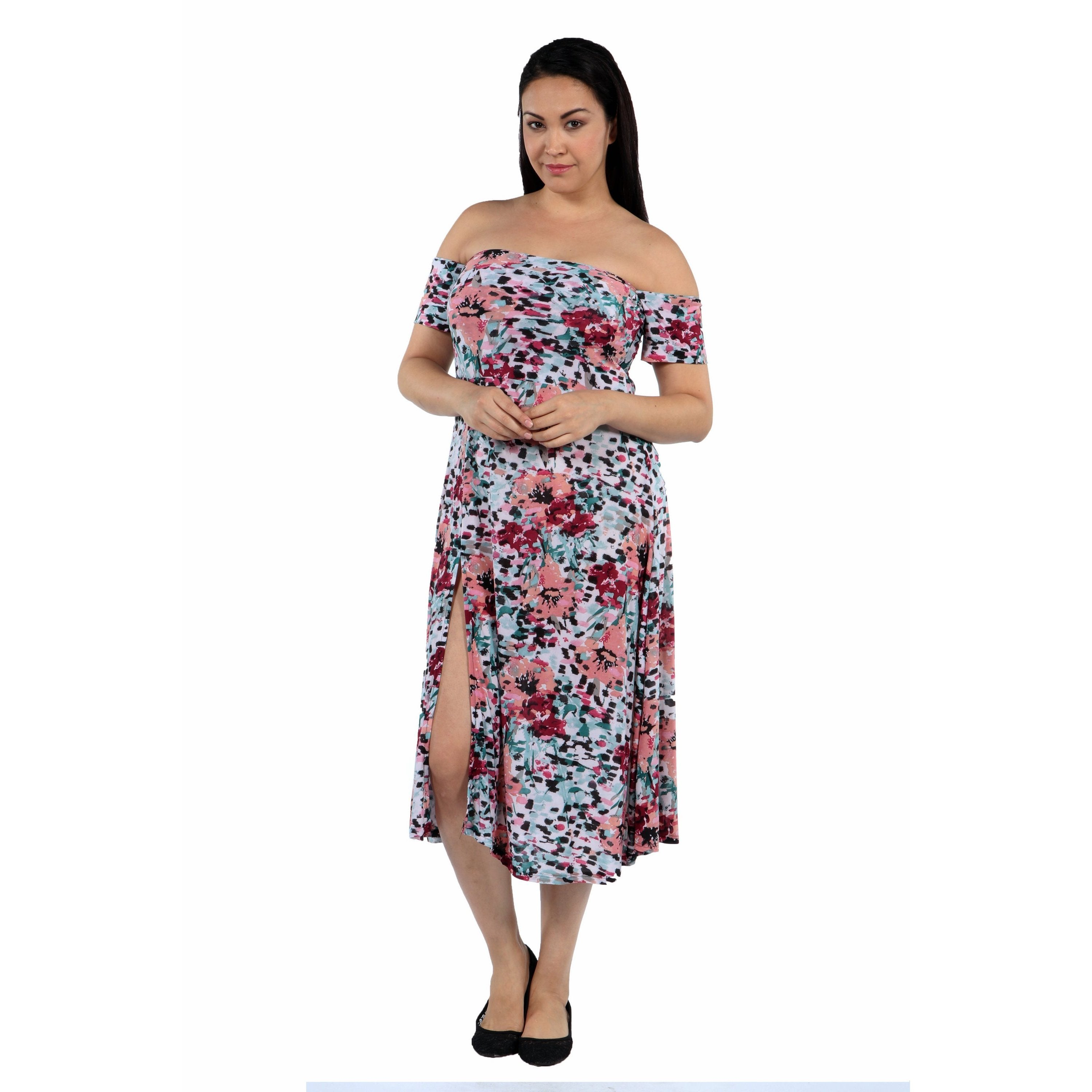 24/7 Comfort Apparel Angel Orchid Plus Size Dress (2X), W...