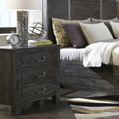 Abington 3 Drawer Nightstand in Weathered Charcoal