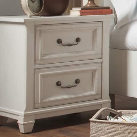 Brookefield 2 Drawer Cotton White Nightstand