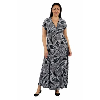 24/7 Comfort Apparel Tigers Eye Maxi Plus Size Dress
