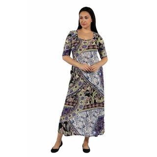 24/7 Comfort Apparel River Jewel Plus Size Maxi Dress