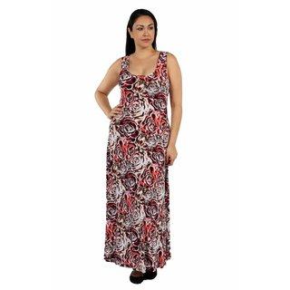 24/7 Comfort Apparel Elegant Afternoons Plus Size Dress