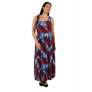 24/7 Comfort Apparel Peacock Princess Plus Size Dress