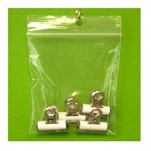 Clear Polyethylene 4-inch x 6-inch 4-mil Reclosable Zippe...