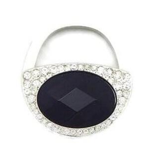 Elegance Purse Accessory Black Crystal Handbag Hook