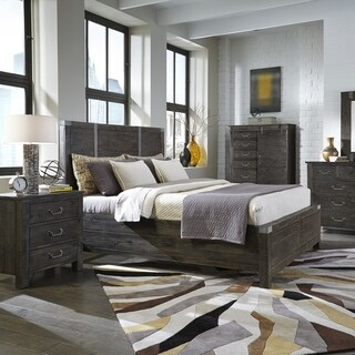 Abington Panel Bed in Weathered Charcoal